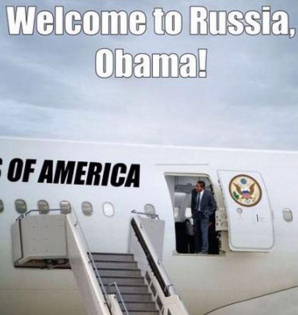 изображение: Добро пожаловать в Росиию, Обама #Прикол