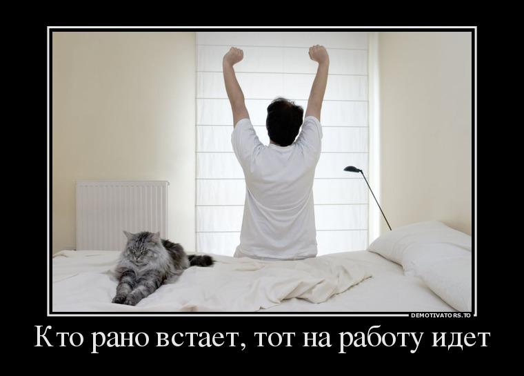 изображение: Кто рано встает, тот на работу идет #Прикол