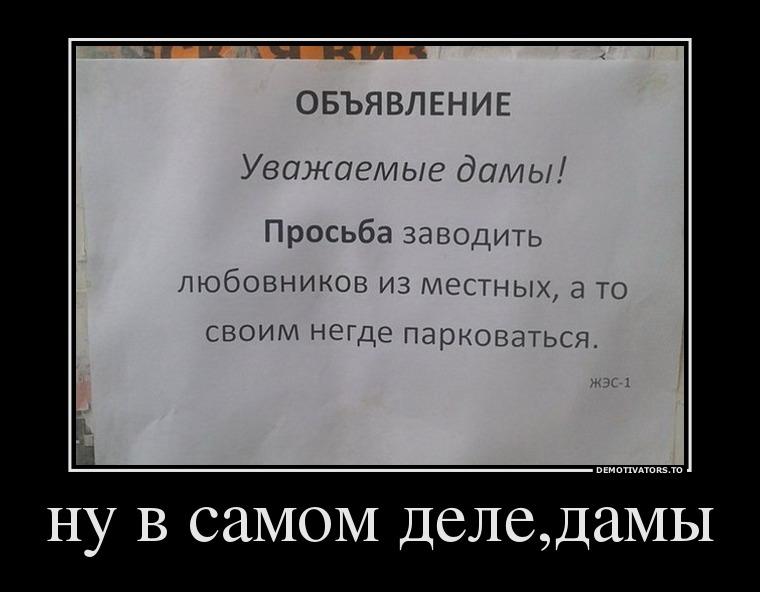 изображение: Ну в самом деле, дамы #Смешные объявления