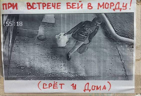 изображение: При встрече бей в морду! Срет у дома #Смешные объявления