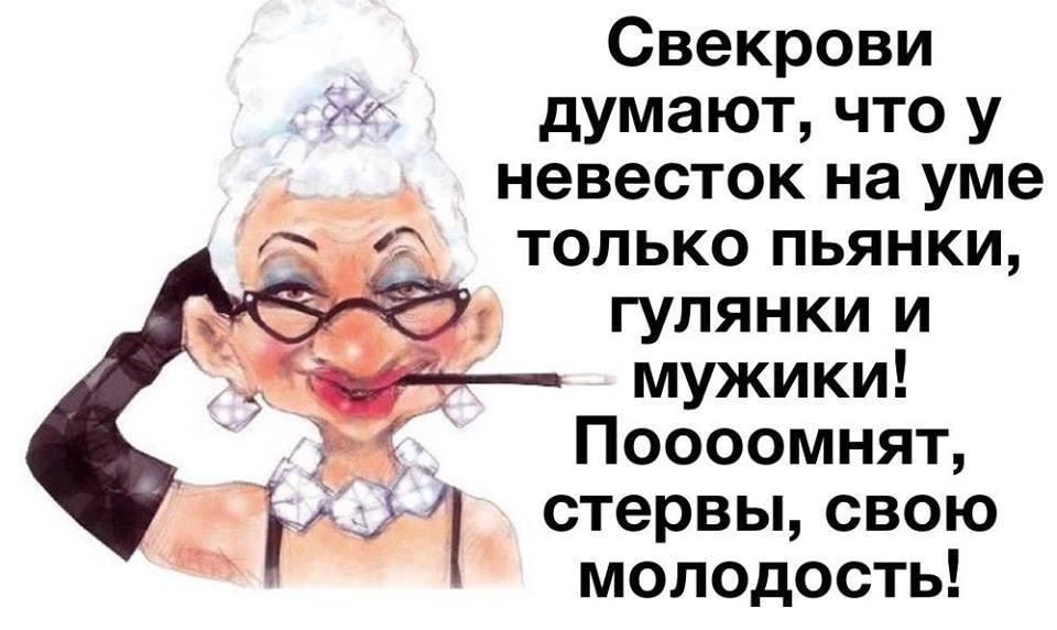 изображение: Свекрови думают, что у невесток на уме только пьянки, гулянки и мужики! Поомнят, стервы, свою молодость! #Прикол