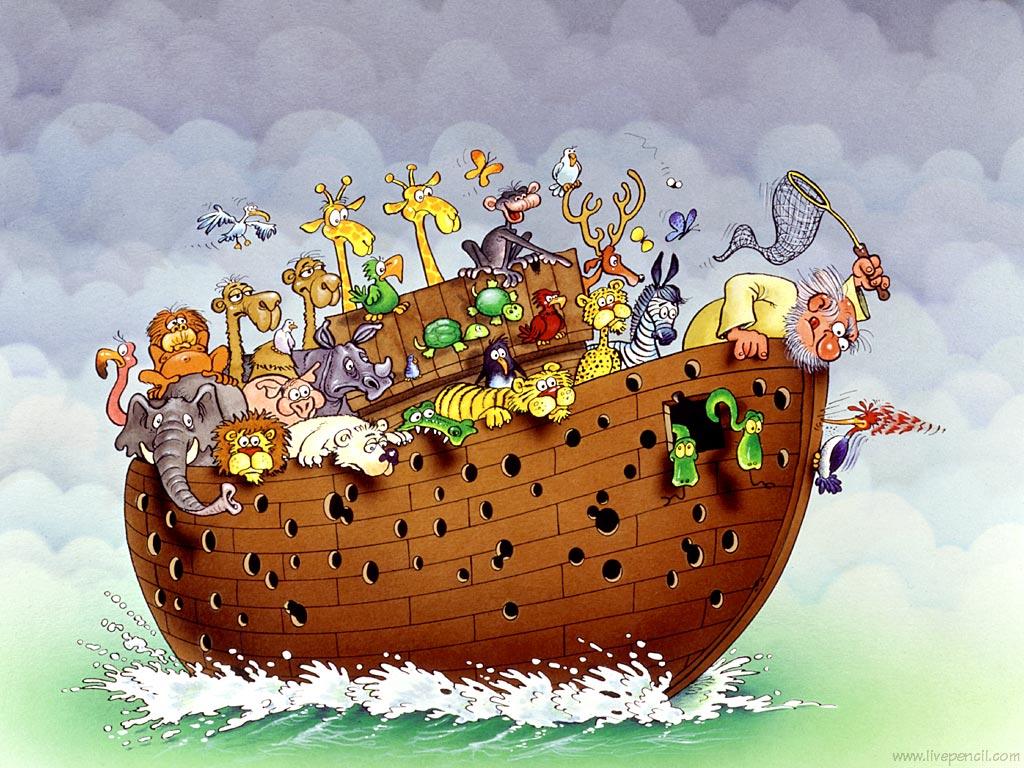 изображение: Ноев ковчег и дятел #Прикол