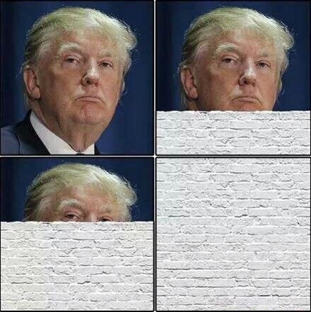 изображение: Как видят Трампа мексиканцы #Прикол