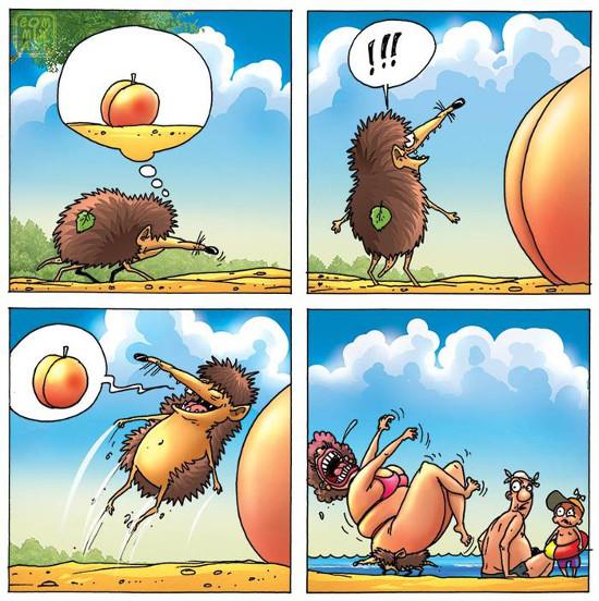изображение: Когда чья-то попа так похожа на персик #Прикол