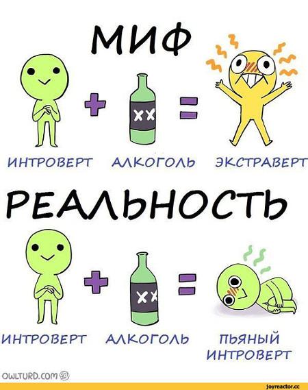 изображение: Мифы и реальность, как ведет себя пьяный интроверт #Прикол