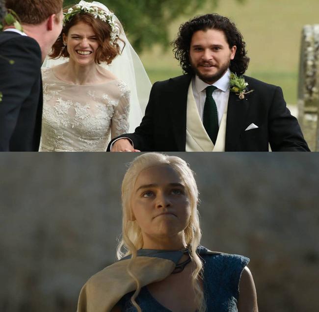 Сегодня король Севера и его возлюбленная официально стали мужем и женой | #прикол