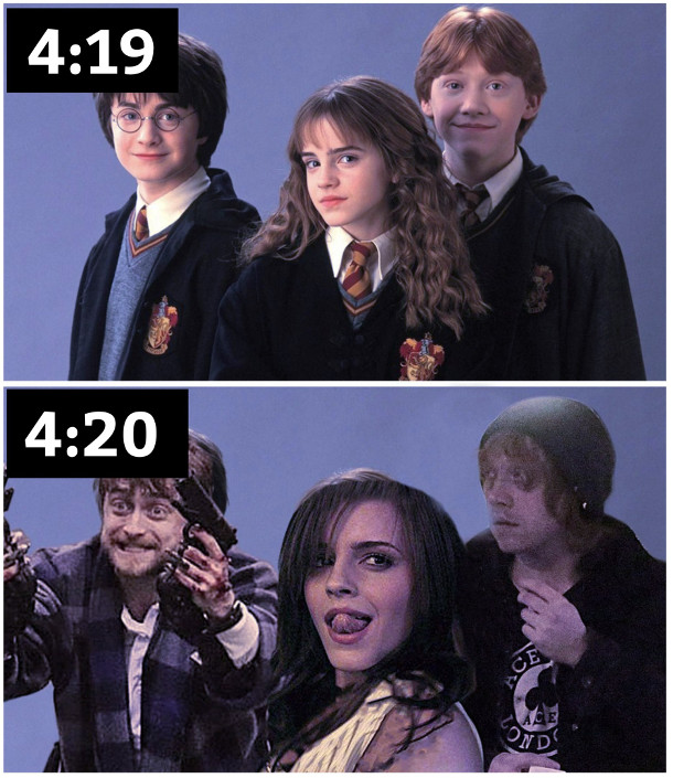 изображение: Гарри Поттер, Гермиона и Рон. Волшебные превращения #Прикол