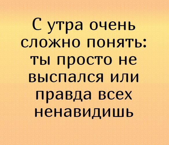 изображение: С утра очень сложно понять: ты просто не выспался или правда всех ненавидишь #Прикол