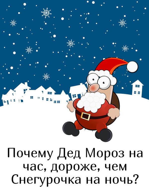 изображение: Почему Дед Мороз на час, дороже, чем Снегурочка на ночь? #Прикол