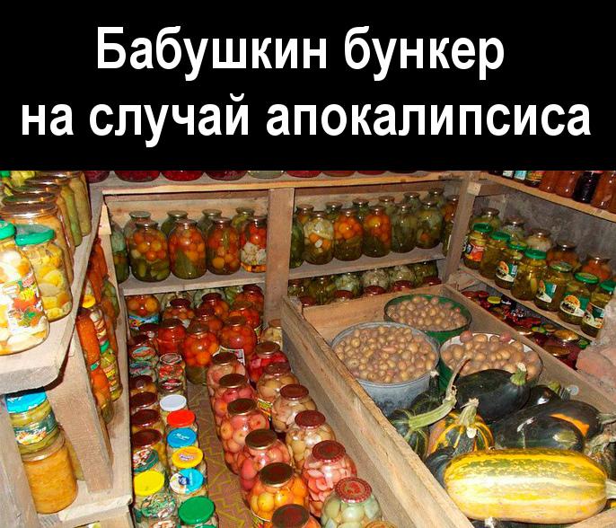 изображение: Бабушкин бункер на случай апокалипсиса #Прикол