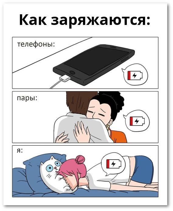 изображение: Как заряжаются: телефоны, пары, я #Прикол