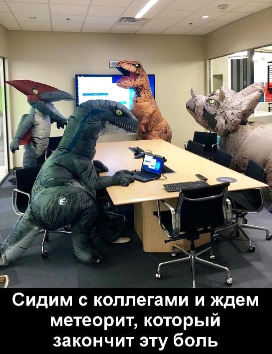 изображение: Сидим с коллегами и ждем метеорит, который закончит эту боль #Прикол