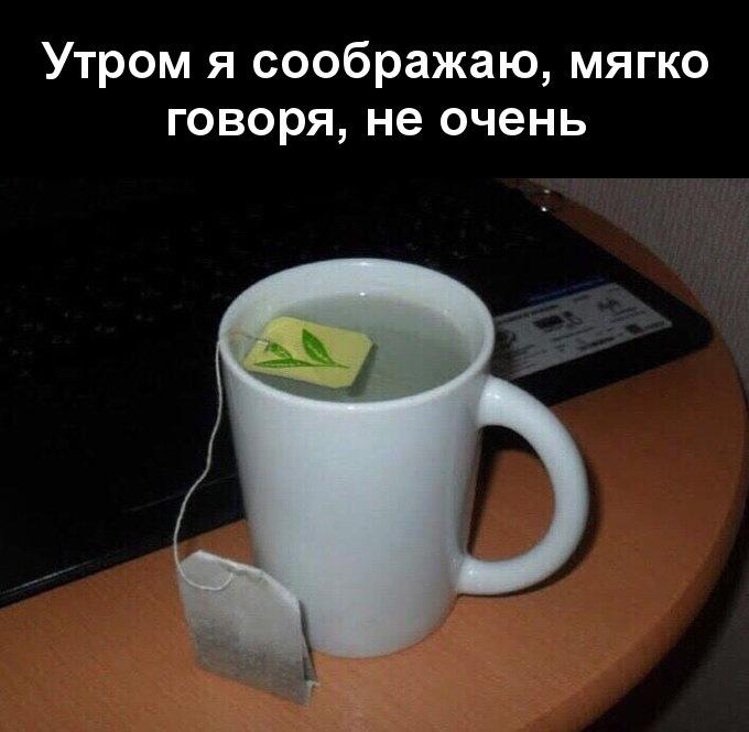 изображение: Утром я соображаю, мягко говоря, не очень #Прикол