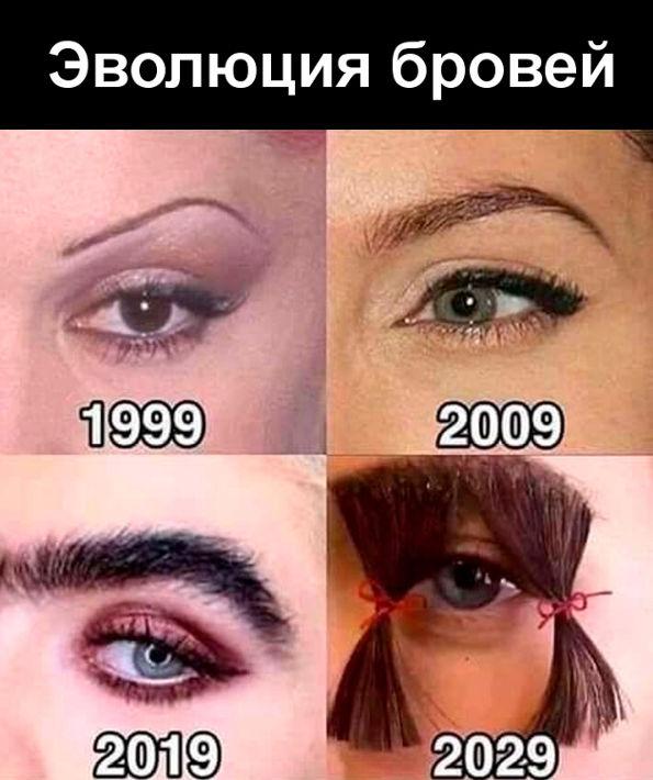 изображение: Эволюция бровей #Прикол