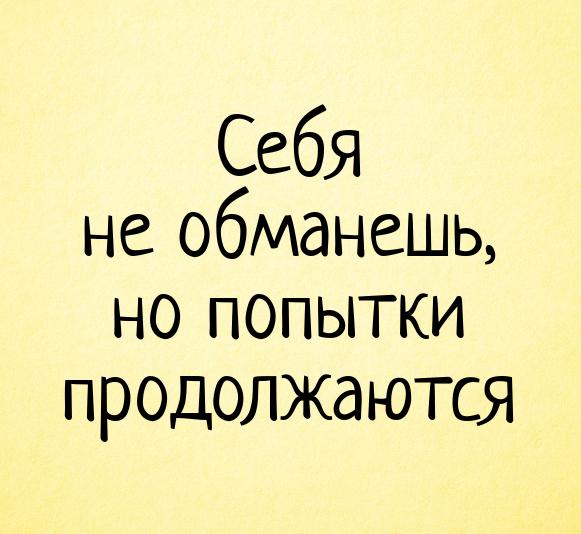 изображение: Себя не обманешь, но попытки продолжаются #Прикол