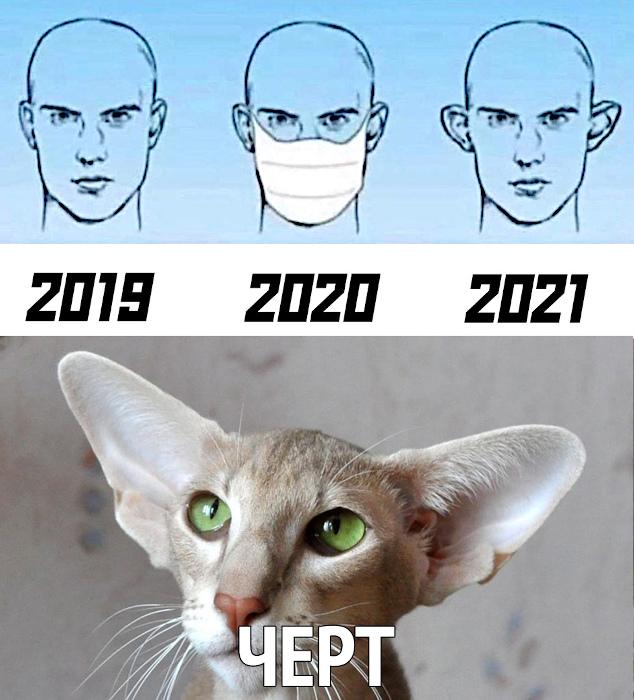 2019. 2020. 2021. - Чёрт! - Лопоухие уши от ношения маски | #прикол