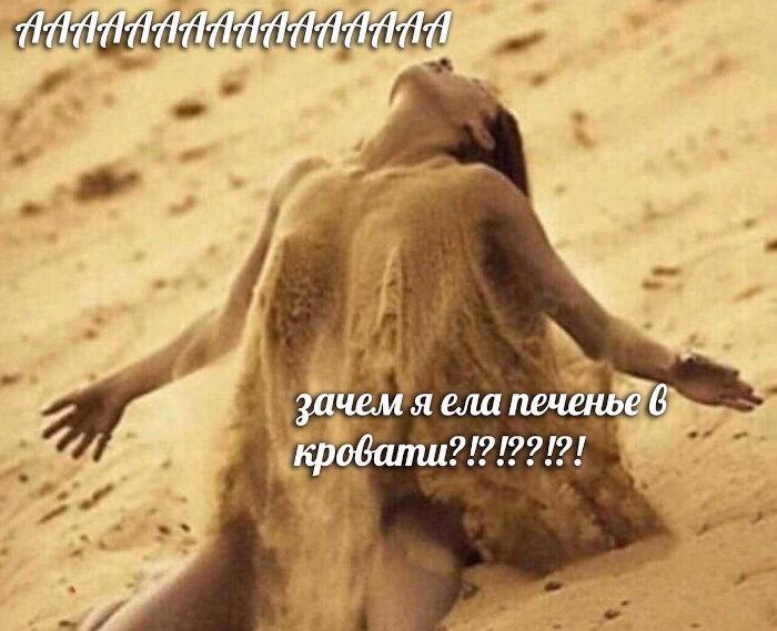 изображение: Ааааа! Зачем я ела печенье в кровати?! #Прикол