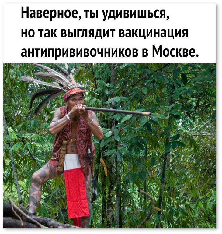 изображение: Наверное, ты удивишься, но так выглядит вакцинация антипрививочников в Москве. #Прикол