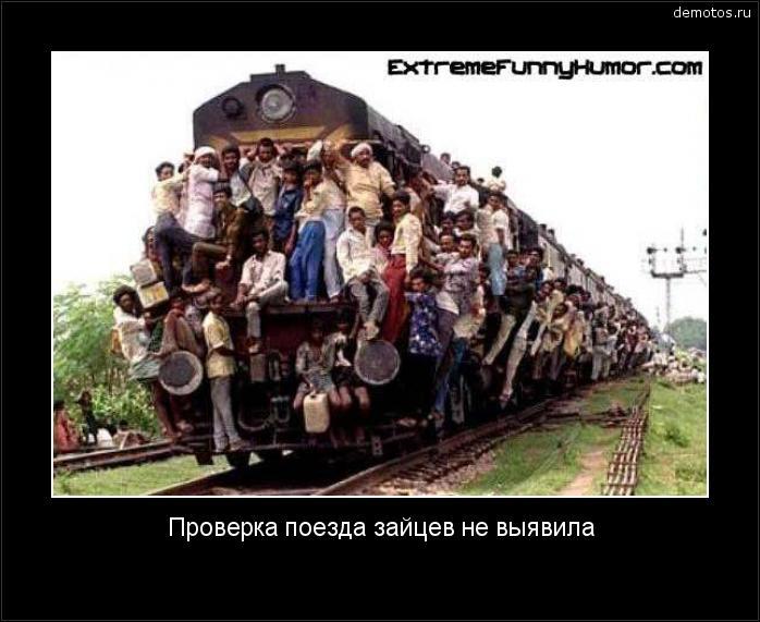Проверка поезда зайцев не выявила #демотиватор