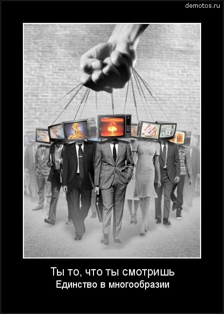 Ты то, что ты смотришь Единство в многообразии #демотиватор