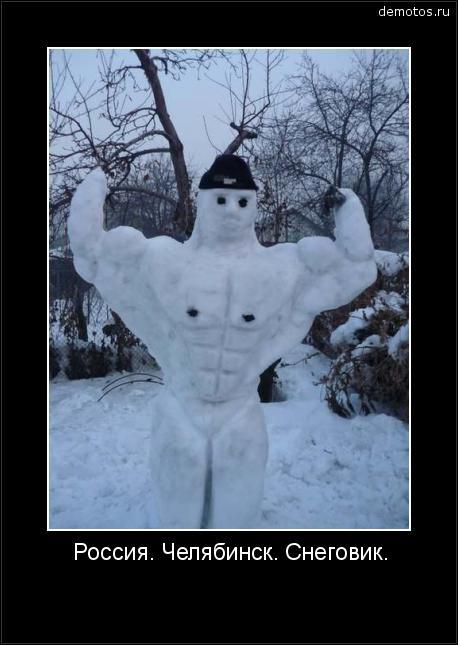 Россия. Челябинск. Снеговик. #демотиватор
